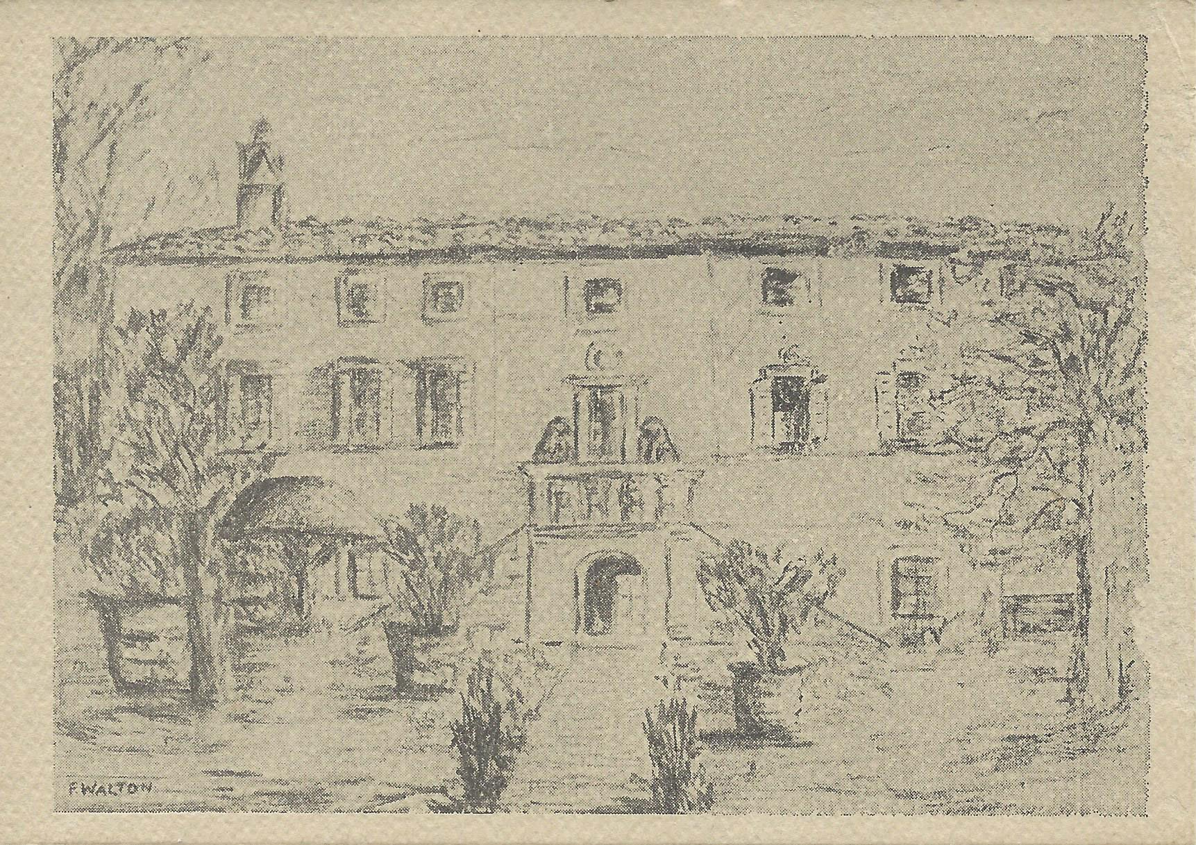 The Villa drawn by the english artist Richard Wen